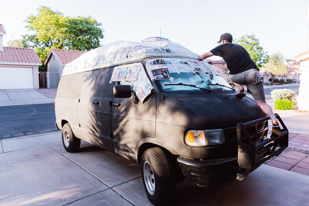 Paint Masking the van